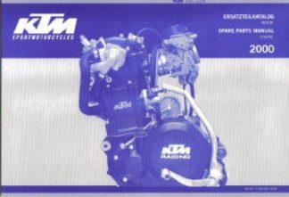Official 2000 KTM 400 SXC Engine Spare Parts Manual