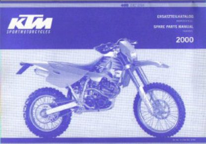 Official 2000 KTM 400 SXC Chassis Spare Parts Manual