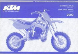 Official 2000 KTM 50 Chassis Spare Parts Manual