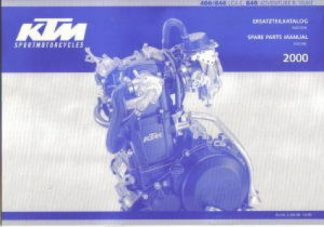 Official 2000 KTM 400 640 LC4-E 640 Adventure R Duke Engine Spare Parts Manual