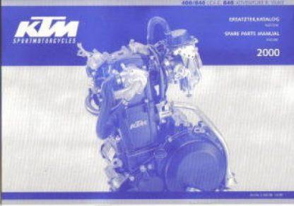 Official 2000 KTM 400 640 LC4-E 640 Adventure R Duke Engine Spare Parts Manual