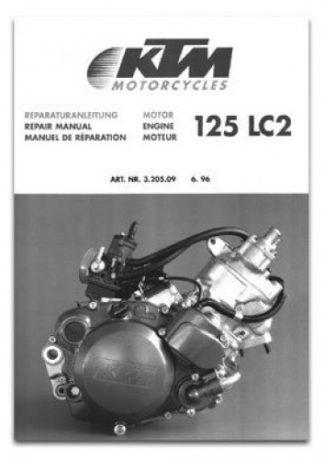 Official 1997 KTM 125 LC2 Sting Engine Repair Manual