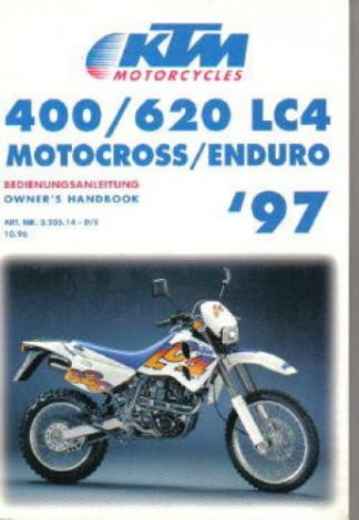 Official 1997 KTM 400 620 LC4 Owners Handbook