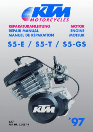Official 1997-2001 KTM 50 Motorcycle Engine Repair Manual