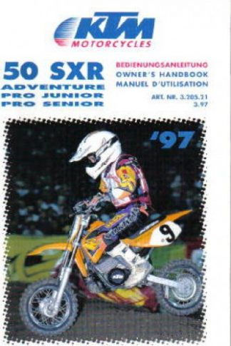 Official 1997 KTM 50SXR Owners Handbook