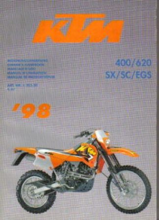 Official 1998 KTM 400 620 SX SC EGS Factory Service Manual
