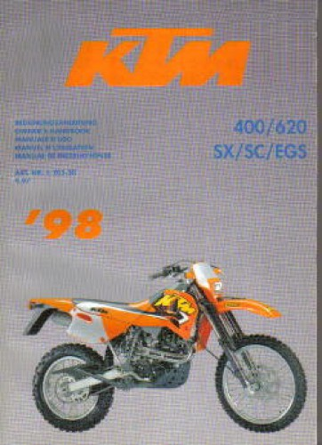 Official 1998 KTM 400 620 SX SC EGS Factory Service Manual