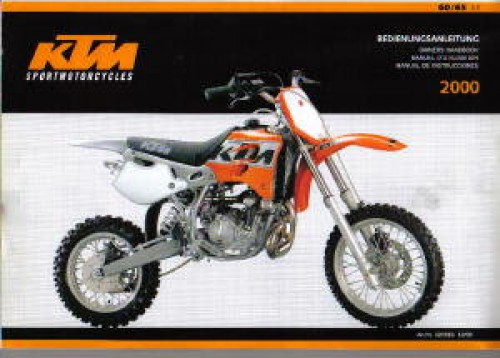 2000 ktm 60 65 sx motorcycle owners manual
