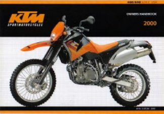 Official 2000 KTM 400 640 LC4-E Owners Handbook