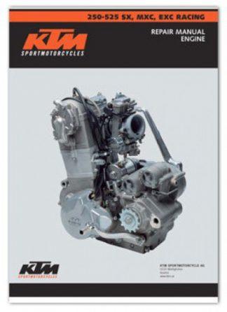 Official 1999-2003 KTM 250-525 Engine Repair Manual 4-stroke