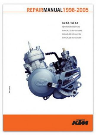Official 1998-2005 KTM 60SX 65SX Engine Repair Manual