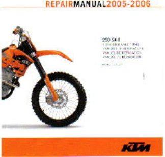 Official 2005-2006 KTM 250SX-F Repair Manuals on CD-ROM