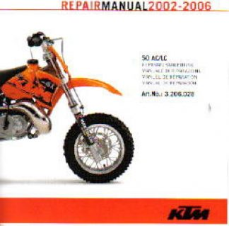 Official 2002-2006 KTM 50 AC LC Repair Manual on CD-ROM