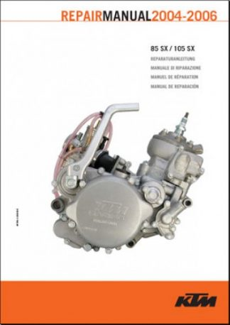 Official 2004-2006 KTM 85SX 105SX Engine Repair Manual Paper