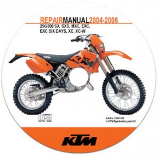 2004-2006 KTM 250 300 SX SXS MXC EXC EXC Sixdays XC XC-W Repair Manuals on CD-ROM