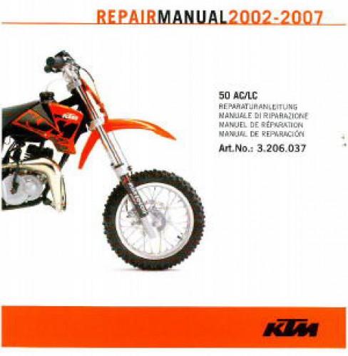 2002 2007 KTM 50 AC LC Repair Manual On CD ROM
