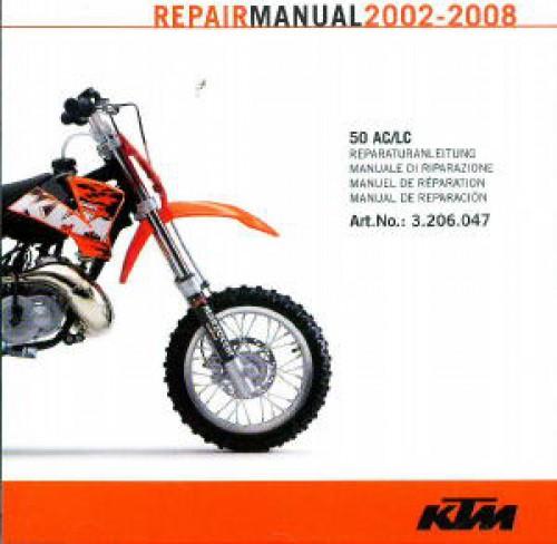 2002 2008 ktm 50 ac lc motorcycle repair manual on disc rh repairmanual com 2013 ktm 50 sx repair manual ktm 50 sx workshop manual
