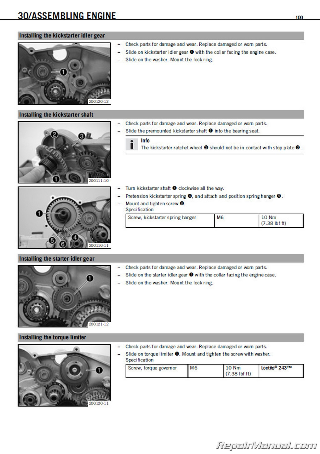 2008 ktm 450 530 exc-r xcr-w repair manual - repairmanual