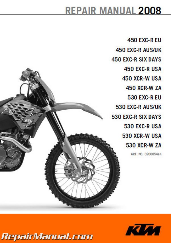 2008 ktm 450 530 exc r xcr w motorcycle repair manual2008 ktm 450 530 exc r xcr w manual