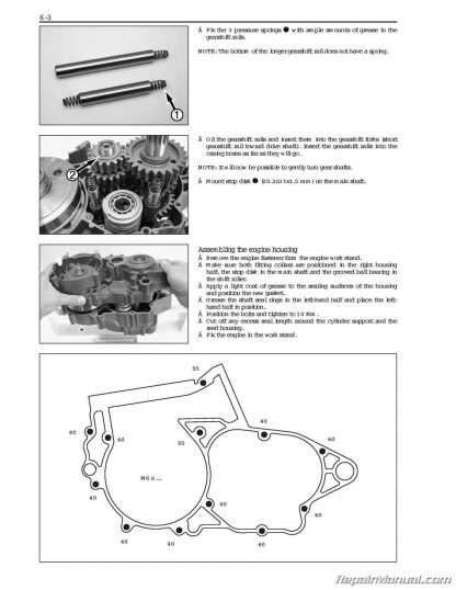 2004 - 2010 KTM 250 300 Two Stroke Service Manual