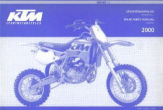 Official 2000 KTM 60 65SX Chassis Spare Parts Manual