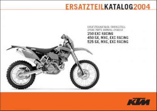 2004 ktm 250 450 525 sx exc mxc chassis spare parts manual. Black Bedroom Furniture Sets. Home Design Ideas
