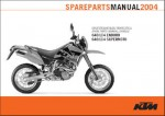 Official 2004 KTM 640 LC4 Chassis Spare Parts Manual