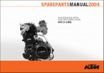 Official 2004 KTM 400 LS-E MIL Engine Spare Parts Manual