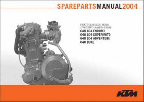 2004 ktm 640 lc4 duke engine spare parts manual rh repairmanual com ktm lc4 640 workshop manual ktm lc4 640 repair manual pdf