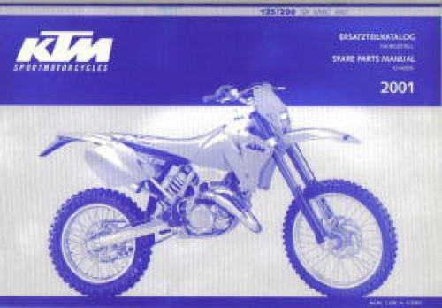2001 ktm 125 200 sx mxc exc racing chassis spare parts manual. Black Bedroom Furniture Sets. Home Design Ideas