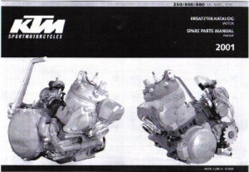 ktm    sx mxc exc engine spare parts manual