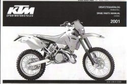 2001 ktm 250 300 380 sx mxc exc spare parts manual chassis. Black Bedroom Furniture Sets. Home Design Ideas