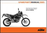 Official 2005 KTM 640 LC4 Enduro Chassis Spare Parts Manual