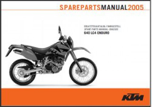2005 ktm 640 lc4 enduro chassis spare parts manual. Black Bedroom Furniture Sets. Home Design Ideas