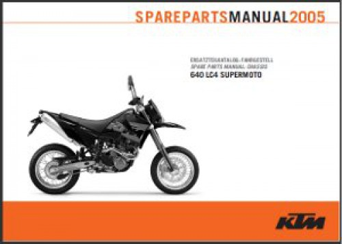 2005 ktm 640 lc4 supermoto chassis spare parts manual. Black Bedroom Furniture Sets. Home Design Ideas