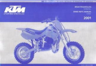 Official 2001 KTM 50 Chassis Spare Parts Manual