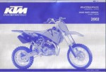 Official 2002 KTM 65SX Engine and Chassis Spare Parts Manual