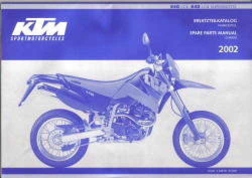 Official 2002 KTM 640 LC4 KTM 640 LC4 Supermoto Spare Parts Manual Chassis
