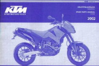 Official 2002 KTM 640 Duke II Chassis Spare Parts Manual
