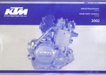Official 2002 KTM 250EXC Engine Spare Parts Manual