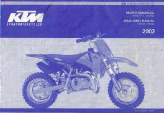 Official 2002 KTM 50 Mini Adventure GS Engine and Chassis Spare Parts Manual
