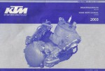 Official 2003 KTM 125 200 SX MXC EXC Engine Spare Parts Manual