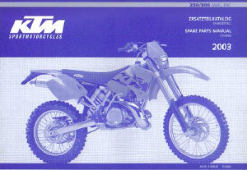 2003 ktm 250 300 mxc exc chassis spare parts manual. Black Bedroom Furniture Sets. Home Design Ideas