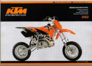Official 2002 KTM 50 SX Pro LC Owners Handbook
