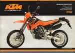 Official 2002 KTM 625 LC4 Supercompetition 625 LC4 SC Supermoto Owners Handbook