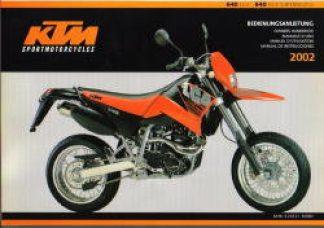 2002 ktm 640 lc4 adventure motorcycle owners handbook. Black Bedroom Furniture Sets. Home Design Ideas