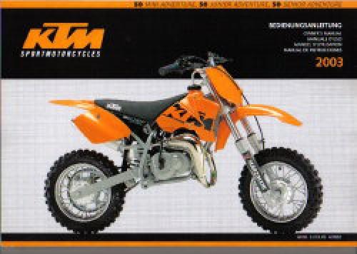 2003 KTM 50 Adventure Motorcycle Owners Handbook
