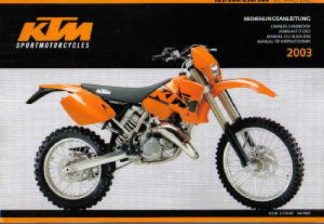 Official 2002-2003 KTM 125 200 250 300 SX MXC EXC Owners Handbook