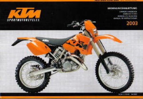 2002 2003 ktm 125 200 250 300 sx mxc exc motorcycle owners. Black Bedroom Furniture Sets. Home Design Ideas