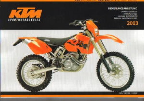 2003 ktm 250 exc racing 450 525 sx exc mxc racing